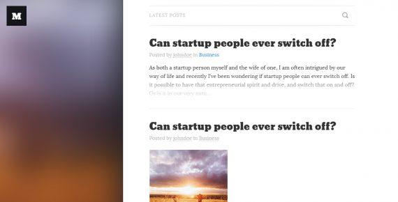 microblog – multipurpose psd template screenshot 1
