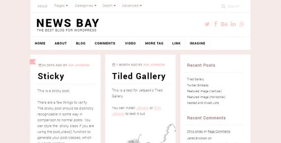 news bay – multipurpose psd template screenshot 1