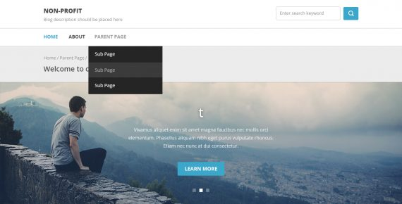 non profit – multipurpose psd template screenshot 1