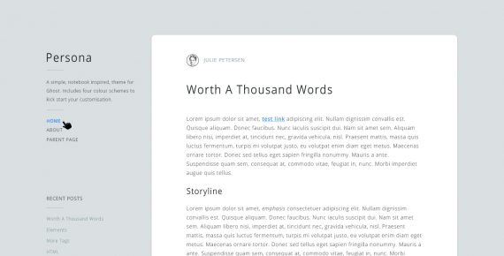 persona – multipurpose psd template screenshot 1