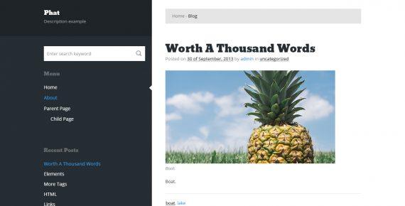 phat – multipurpose psd template screenshot 1