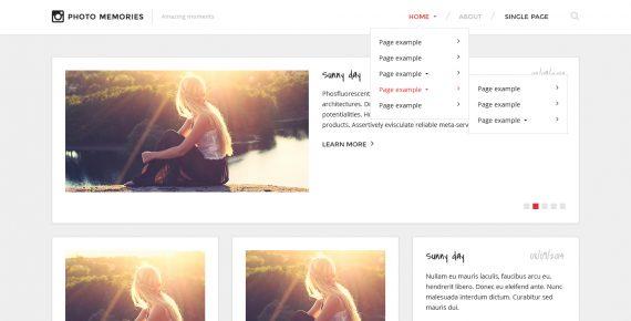 photo memories – multipurpose psd template screenshot 1