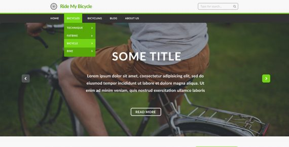 ride my bicycle – multipurpose psd template screenshot 1