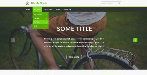 ride my bicycle – multipurpose psd template screenshot 2