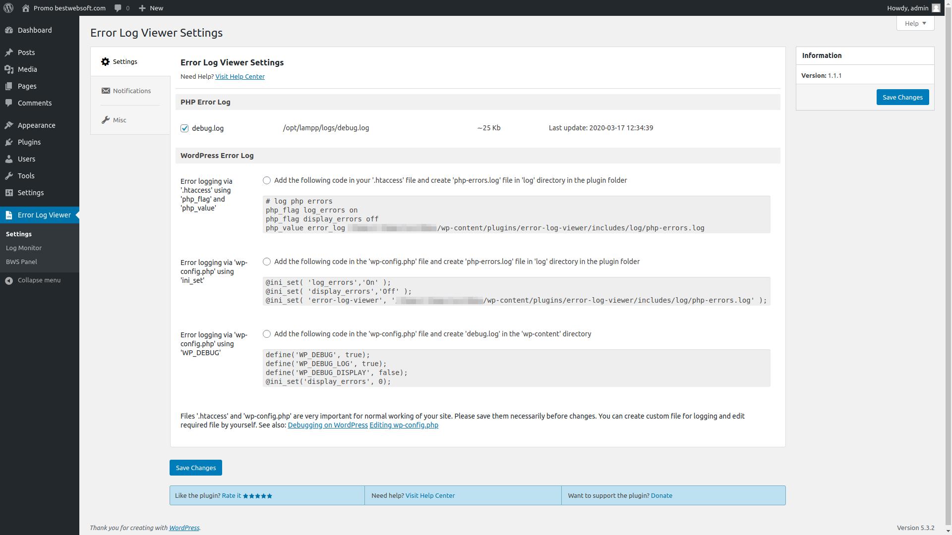 error log viewer screenshot 5