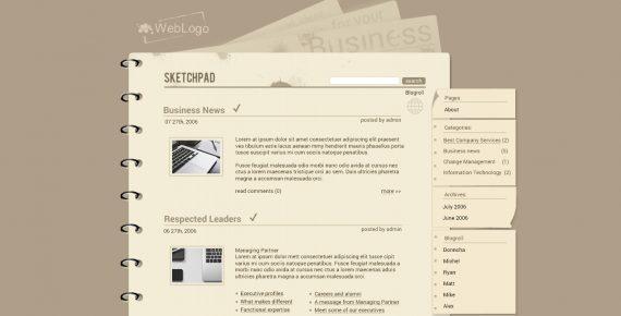 sketchpad – multipurpose psd template screenshot 1