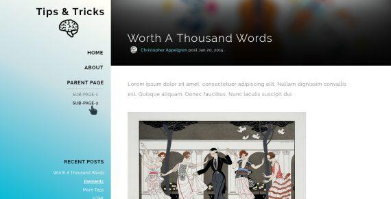 tips & tricks – multipurpose psd template screenshot 1