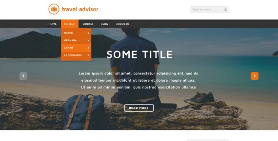 travel advisor – multipurpose psd template screenshot 1