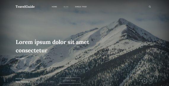 travel stories – multipurpose psd template screenshot 1