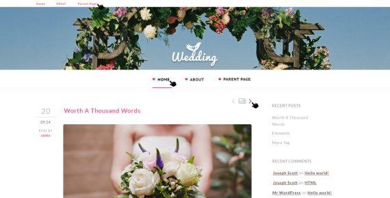 wedding – multipurpose psd template screenshot 1