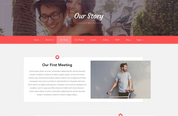 love ceremony – wedding psd template screenshot 10