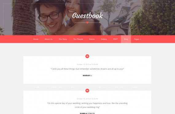 love ceremony – wedding psd template screenshot 9