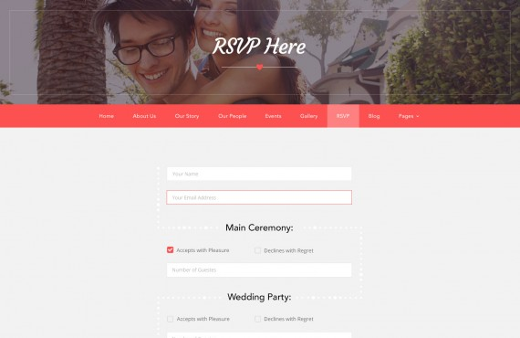 love ceremony – wedding psd template screenshot 7