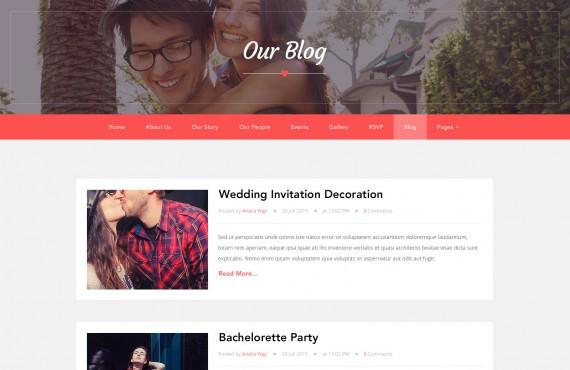 love ceremony – wedding psd template screenshot 5