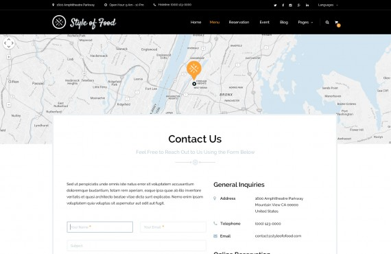 style of food – restaurant & cafe psd template screenshot 4