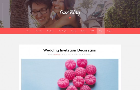 love ceremony – wedding psd template screenshot 4