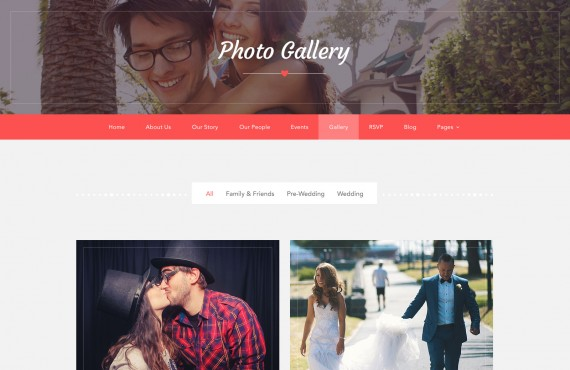 love ceremony – wedding psd template screenshot 3