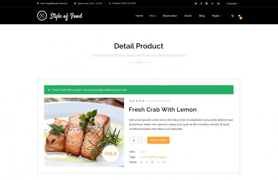 style of food – restaurant & cafe psd template screenshot 5