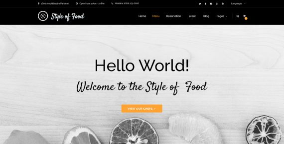 style of food – restaurant & cafe psd template screenshot 6