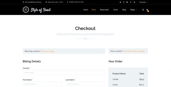 style of food – restaurant & cafe psd template screenshot 15