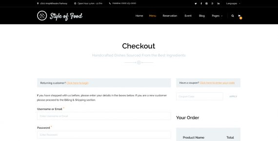 style of food – restaurant & cafe psd template screenshot 16