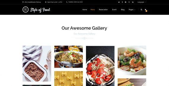 style of food – restaurant & cafe psd template screenshot 19