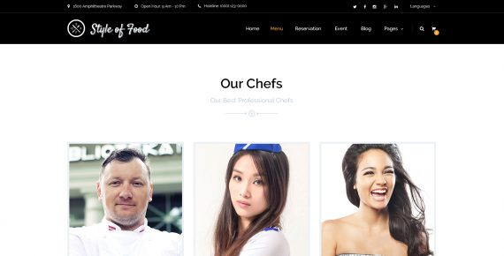 style of food – restaurant & cafe psd template screenshot 8