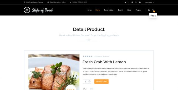 style of food – restaurant & cafe psd template screenshot 12
