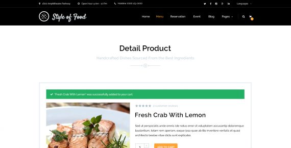style of food – restaurant & cafe psd template screenshot 13