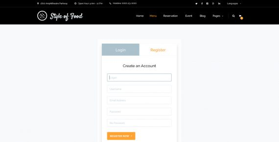 style of food – restaurant & cafe psd template screenshot 24