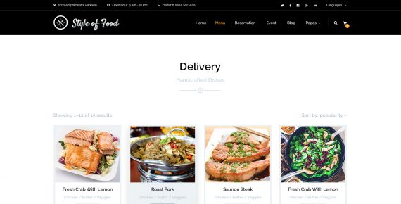 style of food – restaurant & cafe psd template screenshot 11