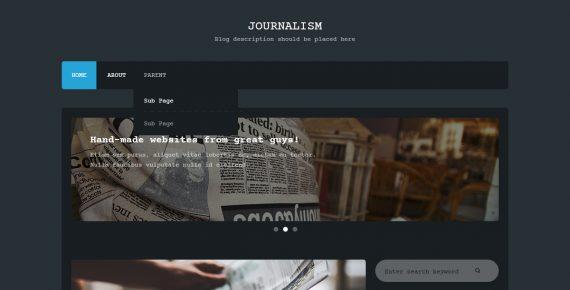 journalism – multipurpose psd template screenshot 1