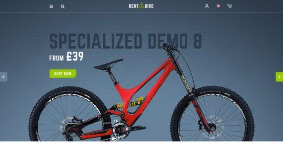 rent a bike – rental & booking psd template screenshot 1
