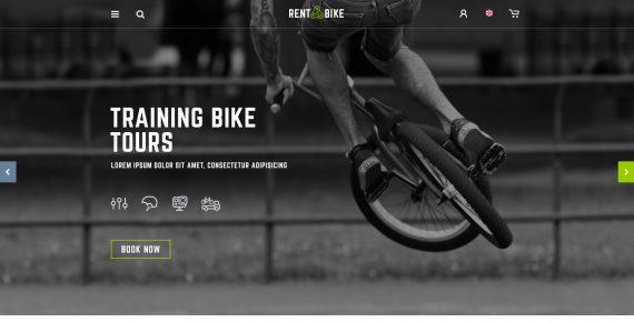 rent a bike – rental & booking psd template screenshot 3
