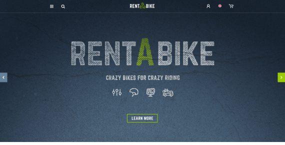 rent a bike – rental & booking psd template screenshot 4