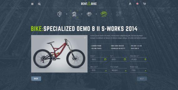 rent a bike – rental & booking psd template screenshot 8