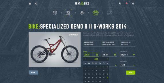 rent a bike – rental & booking psd template screenshot 9