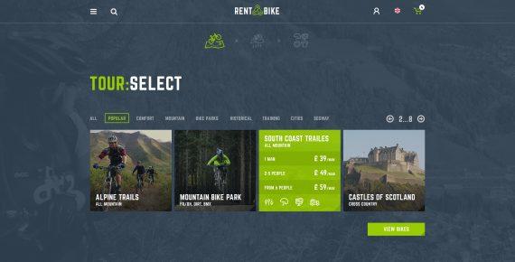rent a bike – rental & booking psd template screenshot 13