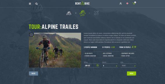 rent a bike – rental & booking psd template screenshot 14