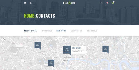 rent a bike – rental & booking psd template screenshot 19