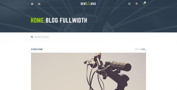 rent a bike – rental & booking psd template screenshot 21