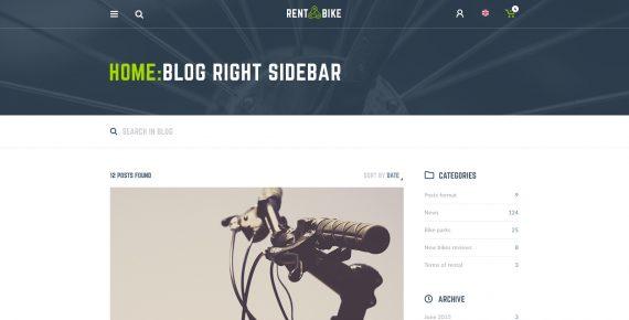 rent a bike – rental & booking psd template screenshot 22