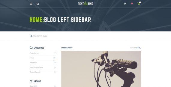 rent a bike – rental & booking psd template screenshot 23