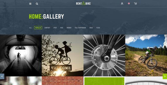 rent a bike – rental & booking psd template screenshot 27