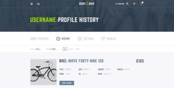 rent a bike – rental & booking psd template screenshot 31
