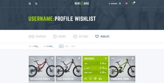 rent a bike – rental & booking psd template screenshot 33