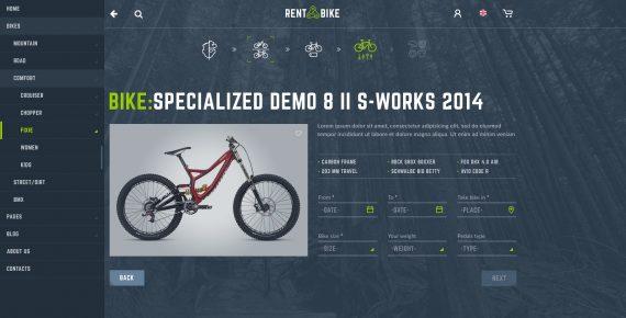 rent a bike – rental & booking psd template screenshot 40