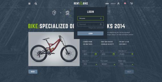 rent a bike – rental & booking psd template screenshot 45
