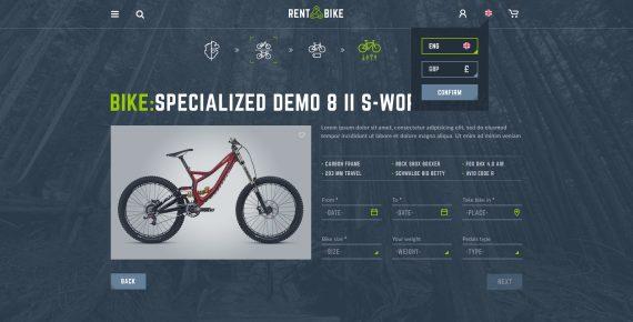 rent a bike – rental & booking psd template screenshot 47