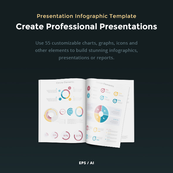 Presentation Infographic Vector Template